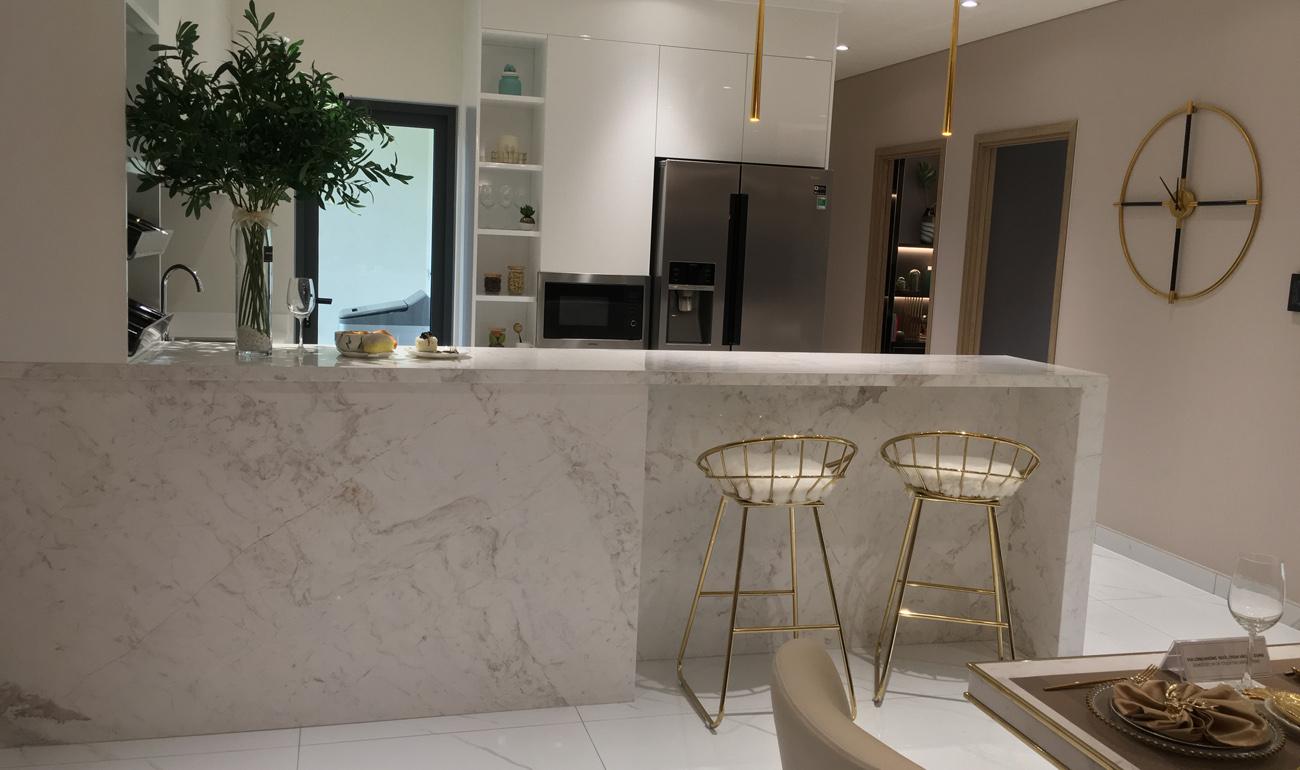 khu vực bếp căn hộ diamond celadon