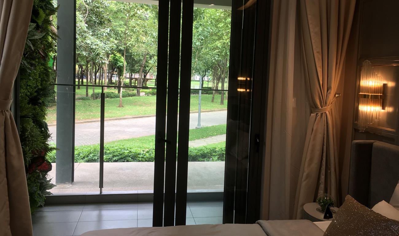 nhà mẫu căn 3 phòng ngủ chung cư celadon -logia phòng ngủ