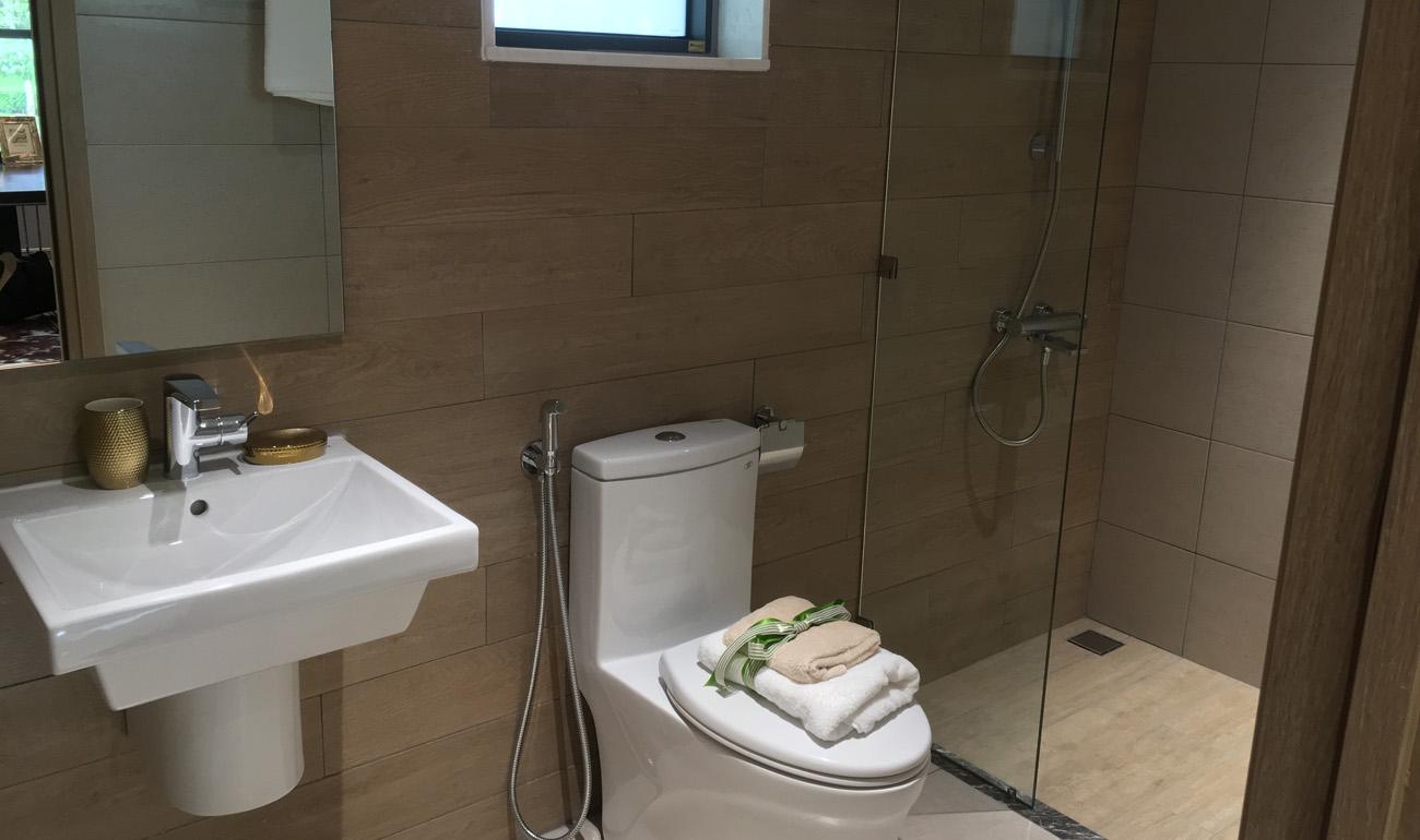 nhà mẫu căn 3 phòng ngủ diamond tân phú celadon - nhà wc